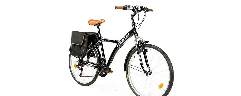 "bicicleta ciudad Moma Bikes Trekking  Hybrid 26"""