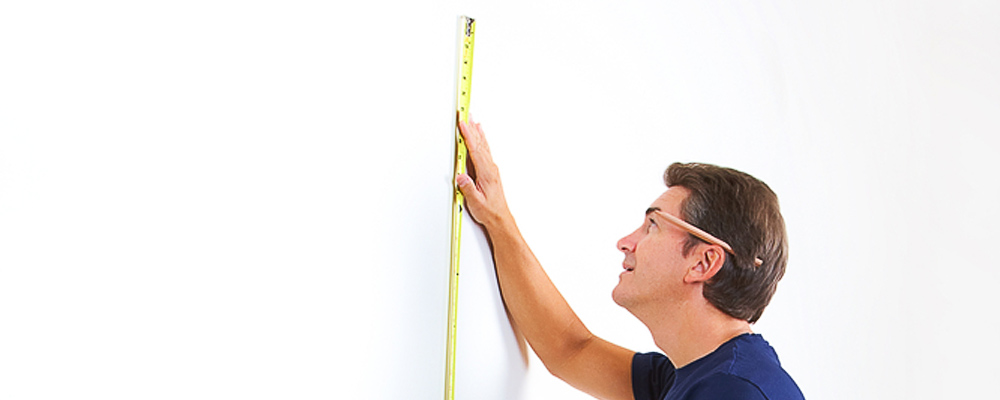 medir pared colgar tv